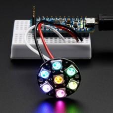 Adafruit NeoPixel Jewel RGB LED diodų žiedas WS2812