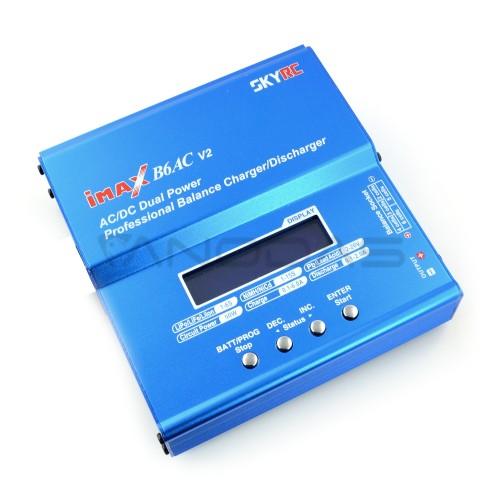 Akumuliatoriaus įkroviklis Li-Pol / LiHV  SkyRC IMAX B6AC v2 USB su įmontuotu maitinimu