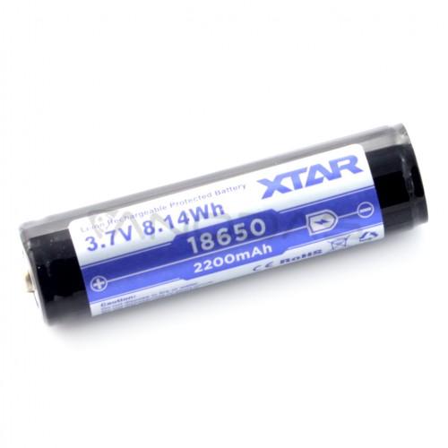 Akumuliatorius 18650 XTAR - 2200mAh