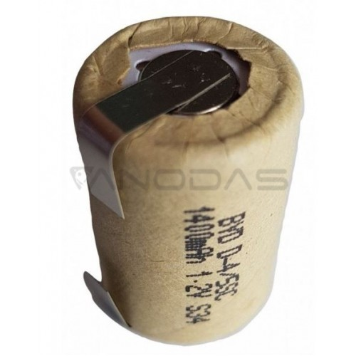 Akumuliatorius 4/5SC 1.2V 1400mAh NiCd su kontaktais
