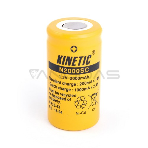 Akumuliatorius Kinetic SC Ni-Cd 1.2V 2000mAh