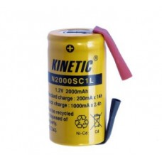 Battery Kinetic SC Ni-Cd 1.2V 2000mAh with soldering tags