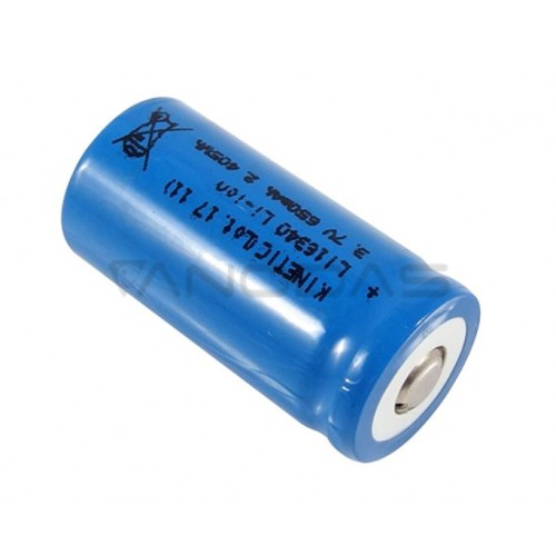 Akumuliatorius Li-Ion LI16340 Kinetic 3.7V 650mAh