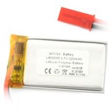 Akumuliatorius Li-Pol 220mAh 1S 3.7V