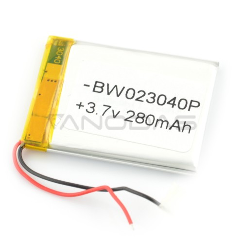 Battery Li-Pol 280mAh 3.7V