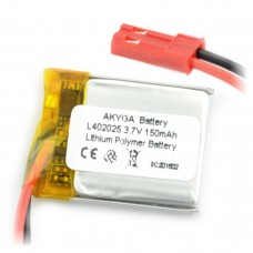 Akumuliatorius Li-Pol Akyga 150mAh 1S 3.7V