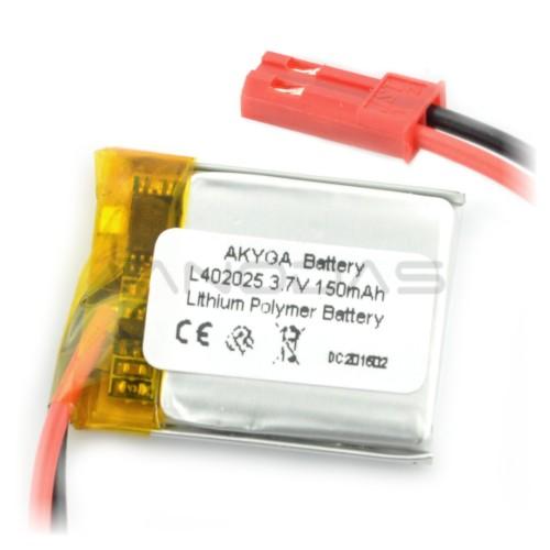 Battery Li-Pol Akyga 150mAh 1S 3.7V
