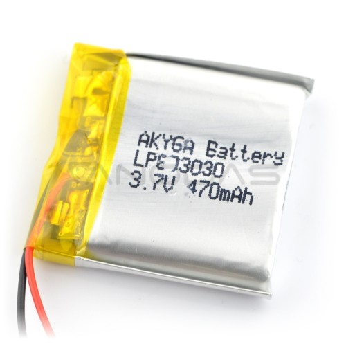 Battery Li-Pol Akyga 470mAh 1S 3.7V