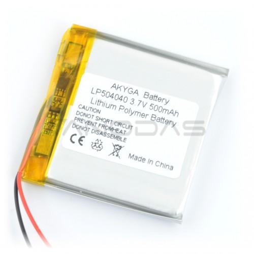 Battery Li-Pol Akyga 500mAh 1S 3.7V