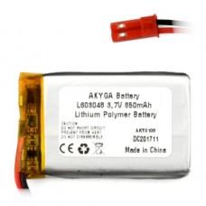 Akumuliatorius Li-Pol Akyga 850mAh 1S 3.7V