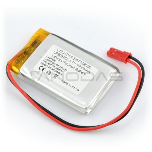 Battery Li-Pol Cellevia 1600mAh 1S 3.7V