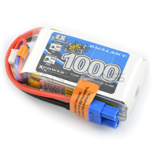 Battery Li-Pol Dualsky 1000mAh 35C 3S 11.1V