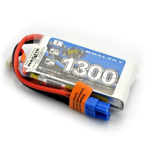 Battery Li-Pol Dualsky 1300mAh 35C 2S 7.4V
