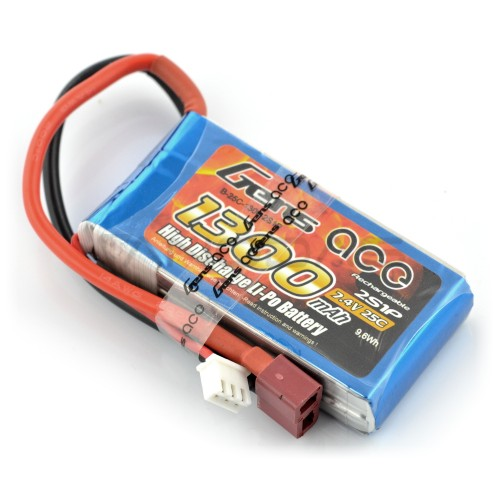 Battery Li-Pol Gens Ace 1300mAh 25C 2S 7.4V