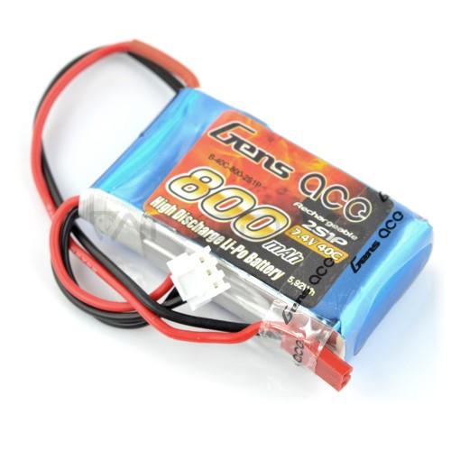 Li-Pol Battery Gens Ace 800mAh 40C 2S 7.4V