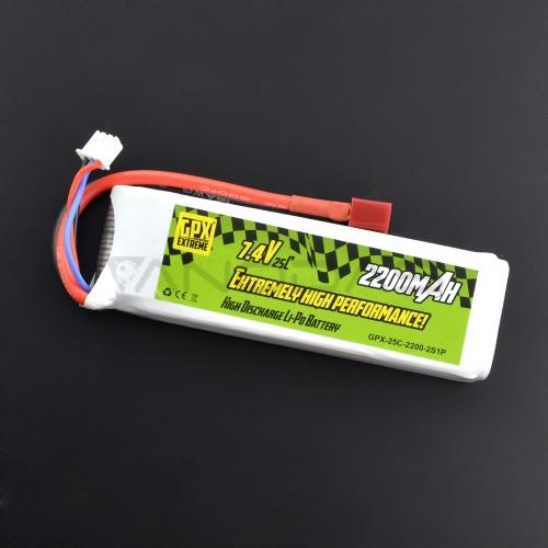 Battery Li-Pol GPX Extreme 2200mAh 25C 2S 7.4V