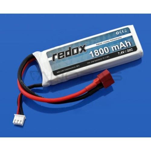 Battery Li-Pol Redox 1800mAh 20C 2S 7.4V