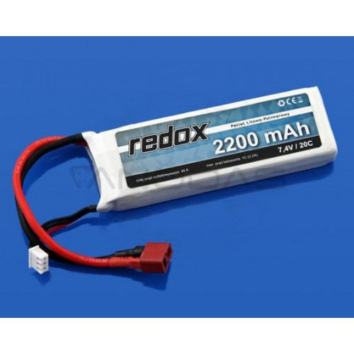 Akumuliatorius Li-Pol Redox 2200mAh 30C 2S 7.4V