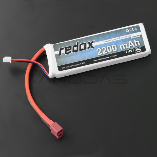 Battery Li-Pol Redox 2200mAh 7.4V 20C