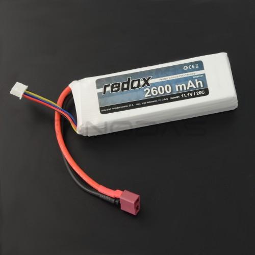 Battery Li-Pol Redox 2600mAh 20C 3S 11.1V