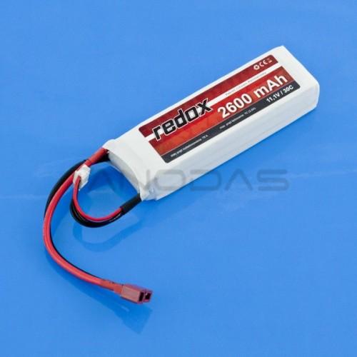 Battery Li-Pol Redox 2600mAh 30C 3S 11.1V
