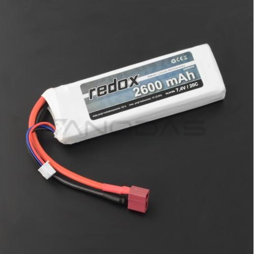 Battery Li-Pol Redox 2600mAh 7.4V 20C