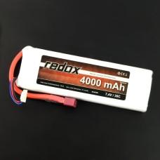 Akumuliatorius Li-Pol Redox 4000mAh 30C 2S 7.4V