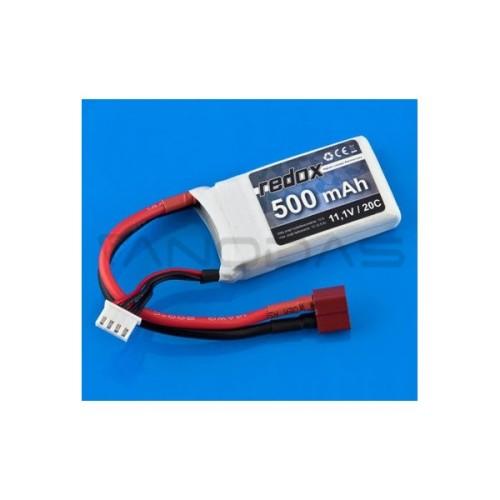 Battery Li-Pol Redox 500mAh 20C 3S 11.1V