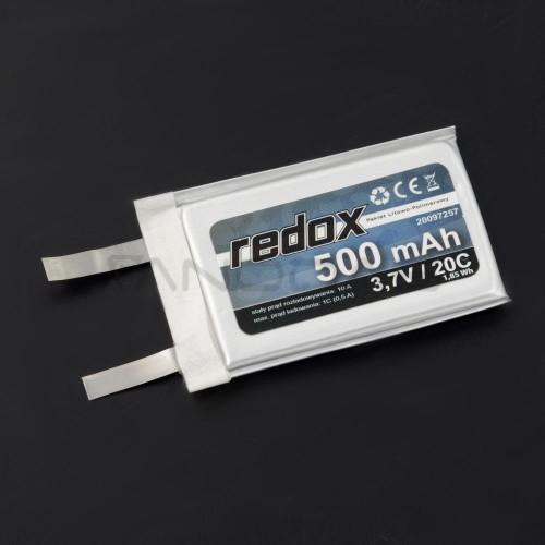 Akumuliatorius Li-Pol Redox 500mAh 3.7V 20C