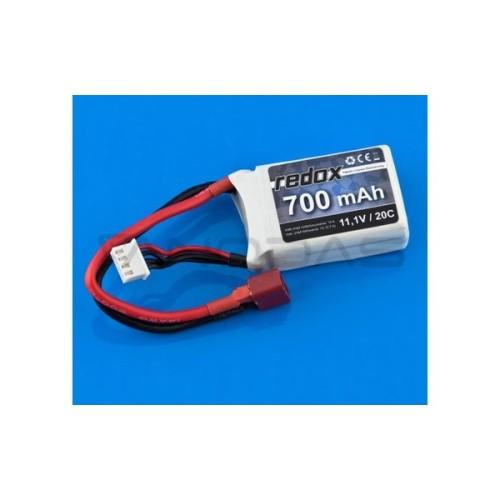 Battery Li-Pol Redox 700mAh 20C 3S 11.1V