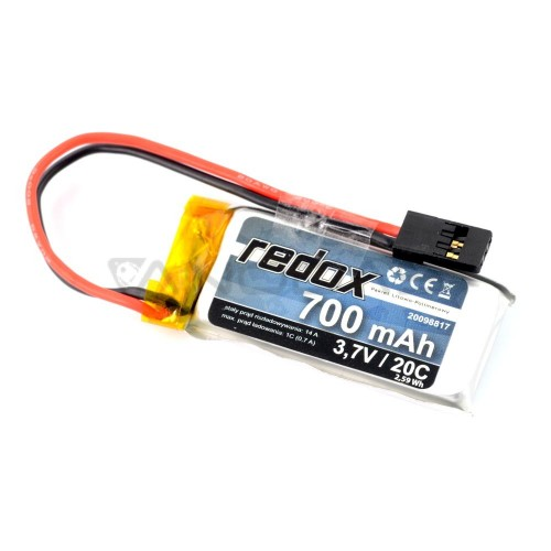 Battery Li-Pol Redox 700mAh 3.7V 20C JR