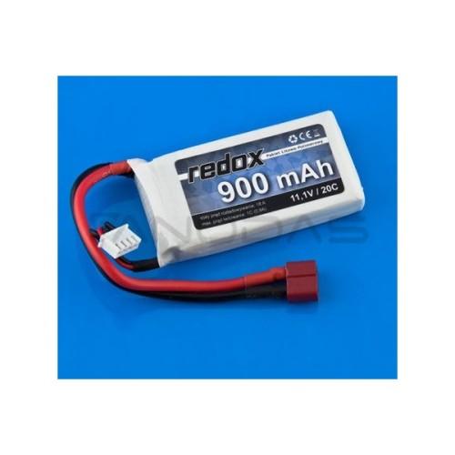 Battery Li-Pol Redox 900mAh 30C 3S 11.1V