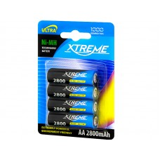Battery XTREME R6 Ni-MH AA 2800mAh (4pc.)