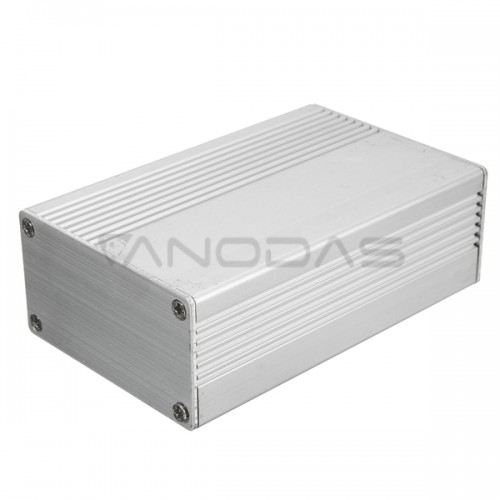 Aliumininė dėžutė 100x74x29mm - sidabrinė