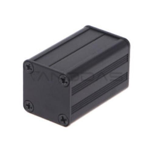 Aliumininė dėžutė 40x25x25mm - juoda