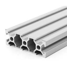 Aliuminio profilis V-SLOT 2060 - 500mm ilgis sidabrinis