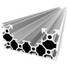 Aliuminio profilių segmentas C-BEAM 250mm ilgio sidabrinis