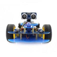 AlphaBot Basic - 2 Ratų Roboto Važiuoklė su DC Varikliais ir Waveshare Uno Plus