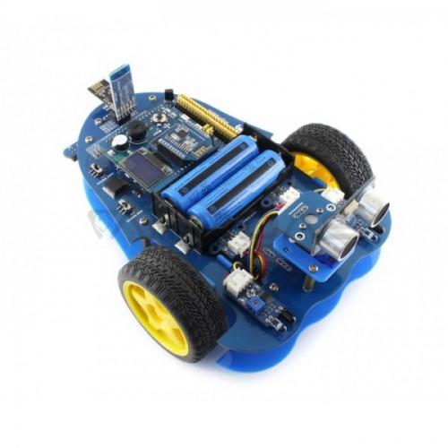 AlphaBot Bluetooth - 2 Ratų Roboto Važiuoklė su DC Varikliais ir Jutikliais