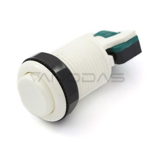 Arcade Concave Button 3.5cm - baltas