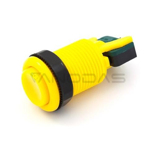 Arcade Concave Button 3.5cm - geltonas