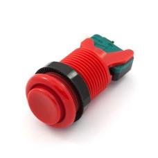 Arcade Concave Button 3.5cm - raudonas