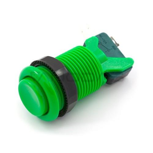 Arcade Concave Button 3.5cm - žalias