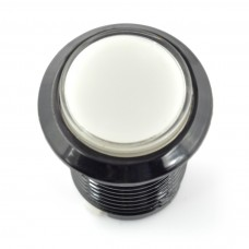 Arcade Push Button 3.3cm - baltas su pašvietimu