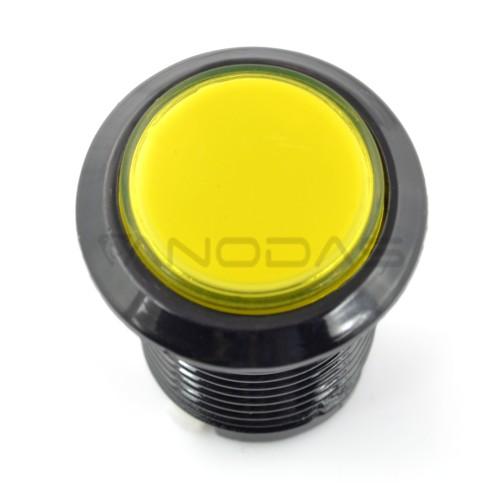 Arcade Push Button 3.3cm - geltonas su pašvietimu