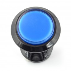Arcade Push Button 3.3cm - mėlynas su pašvietimu