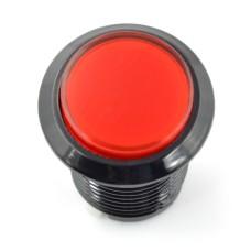 Arcade Push Button 3.3cm - raudonas su pašvietimu