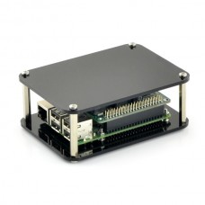 Open Case for Raspberry Pi Model 4B/3B - black
