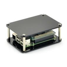 Atvira dėžutė Raspberry Pi Model 4B/3B+ mikrokompiuteriui - juoda