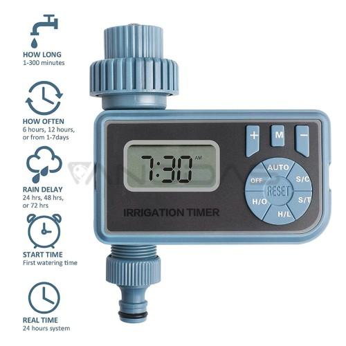 Automatinis vandens laistymo laikmatis su LCD ekranu